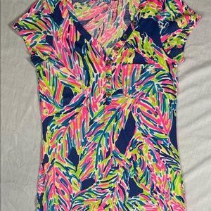 Lilly Pulitzer - Palmira Dress -Indigo Palm Reader